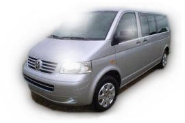 Caravelle VW Grand Confort, chauffeur-driven car rental in Nice, Cannes, and Monaco